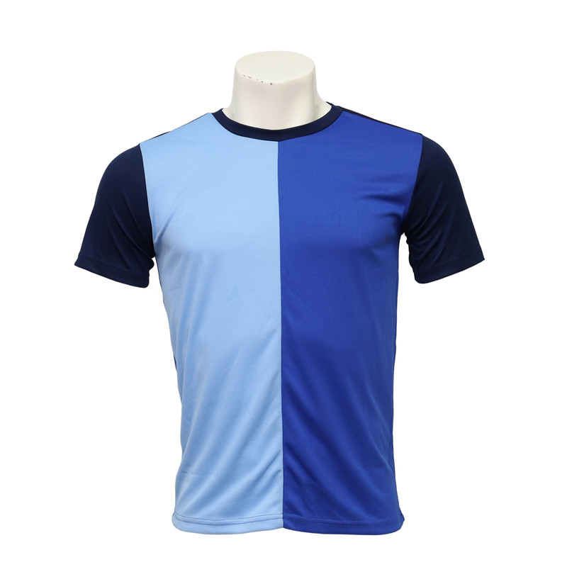 Men's Crew Neck Short-sleeved Cut and Sewn Soccer Team Jersey