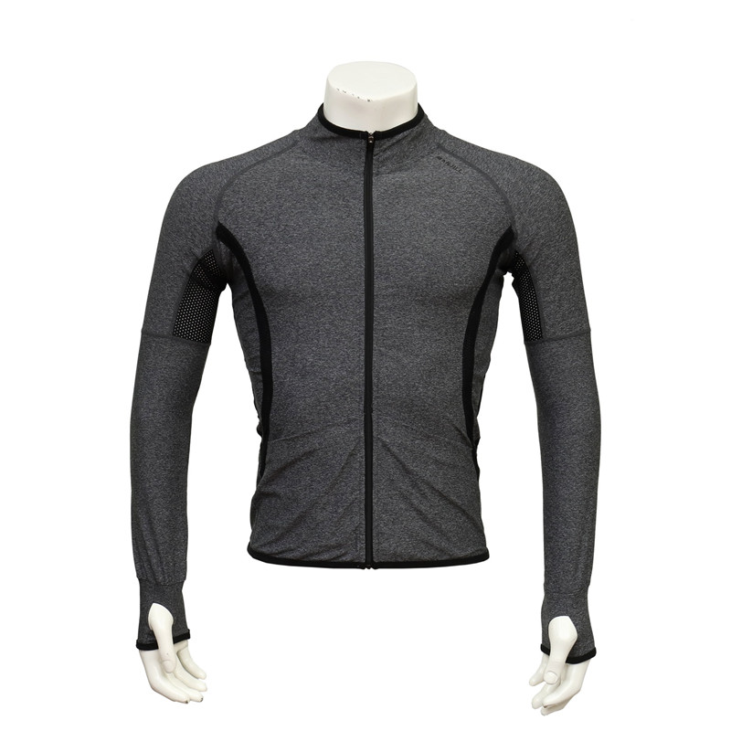 Long-sleeved Seamless Zip-up Thin Jacket for Running with Back Mesh