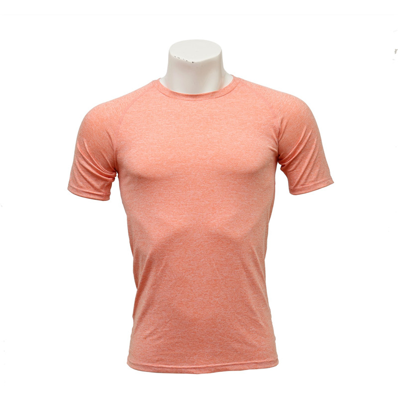 Men's and Women's Fast-dry Orange Polyester Cation Short-sleeved Running Jersey
