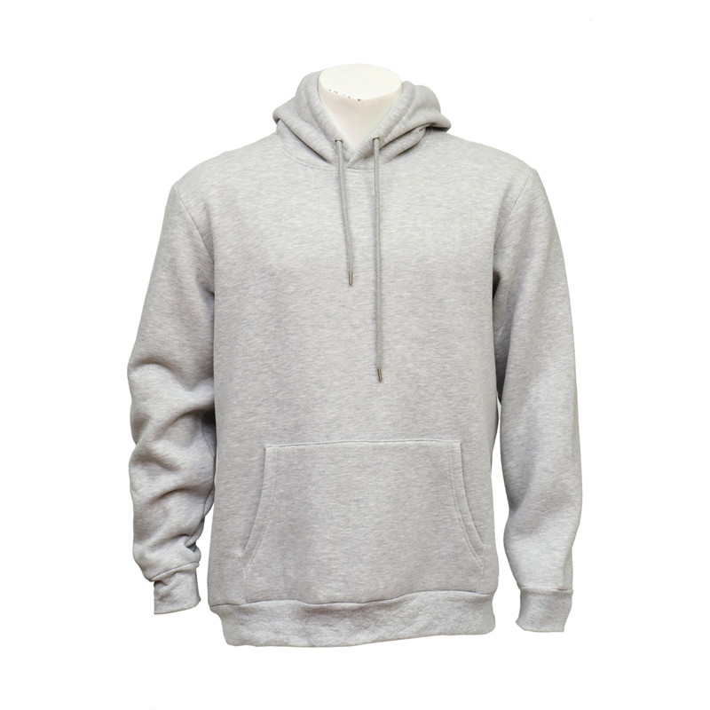 Unisex Pull-over Grey Cotton Hoodie