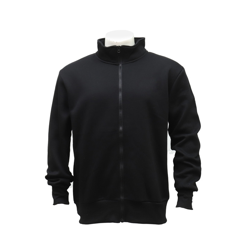 Men's Zip-up Warm Black Jacket