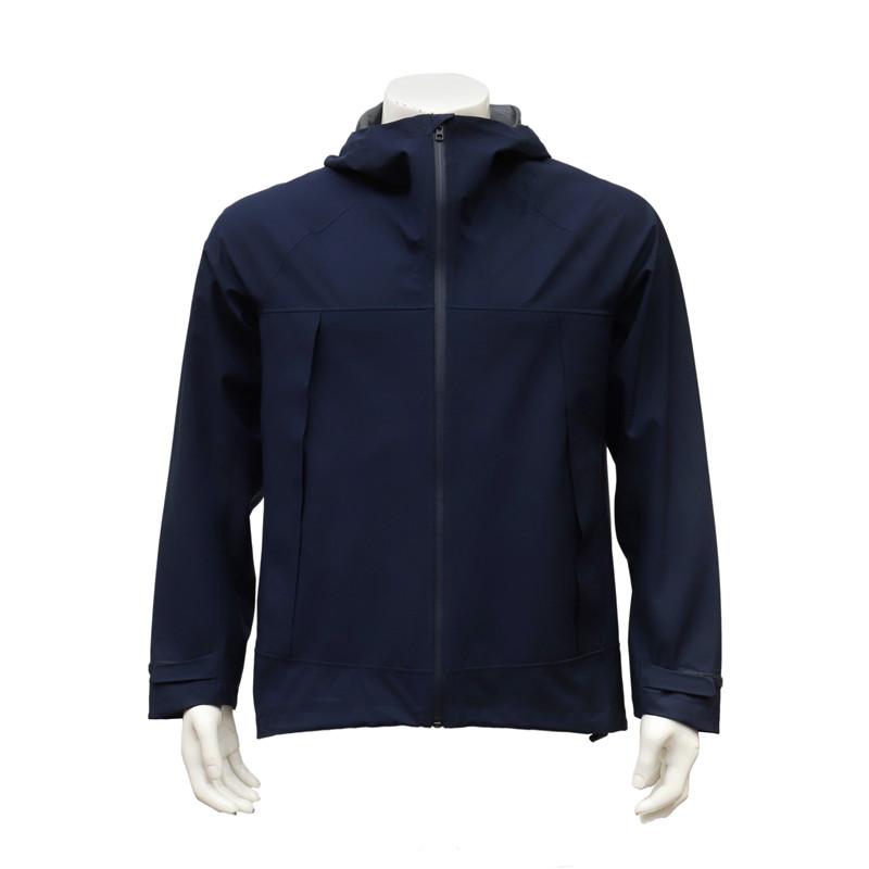 Men's Lightweight Zip-up Waterproof Nylon Woven Jacket with Hood