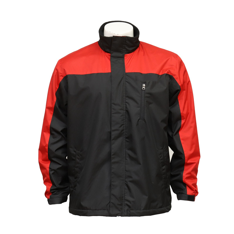 Outdoor Workers Water-proof Black and Red Jacket