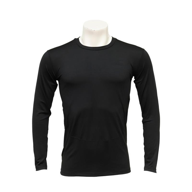 Men's Long-sleeved Black Compression T-shirt