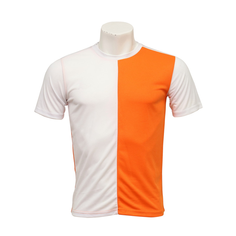 Men's Round-neck Short-sleeved Cut and Sewn Soccer Jersey in Mixed Colors