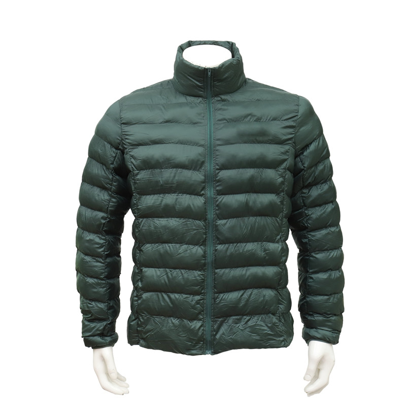 Portable Lightweight Fleece Padded Green Jacket