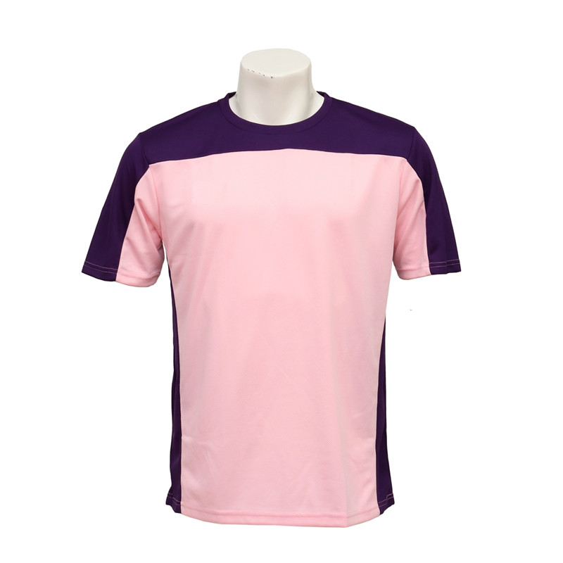 Junior's Cut and Sewn Pink and Purple Microfiber Soccer Jersey