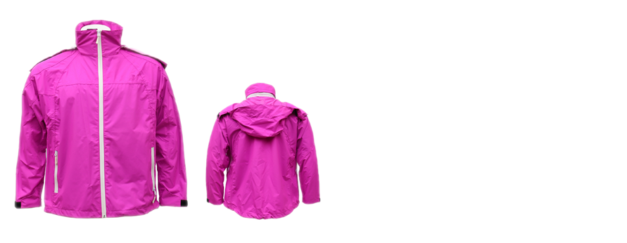 Female and Male Rose Pink Zip-up Jacket Three-in-One Windjacket with Detachable Hood