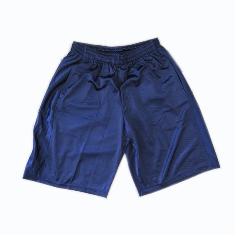 Men's 100% Polyester Soccer Shorts with Drawstring and Pockets