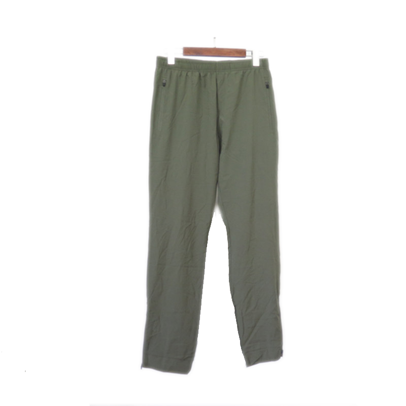 Men's Woven Polyester Fast Dry Four-way Elastic Long Pants with zippers at leg openings