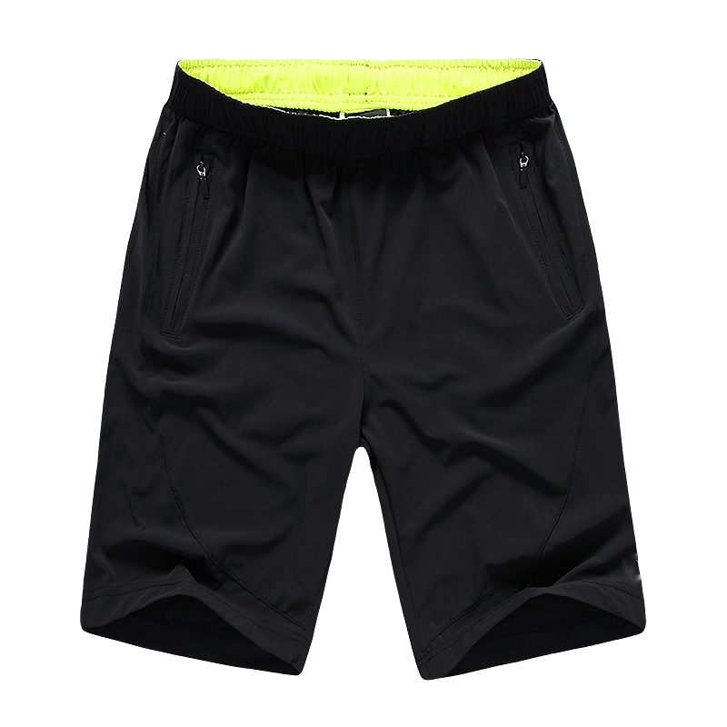 Men's Four-way Elastic Woven Polyester Fast Dry Soccer Shorts