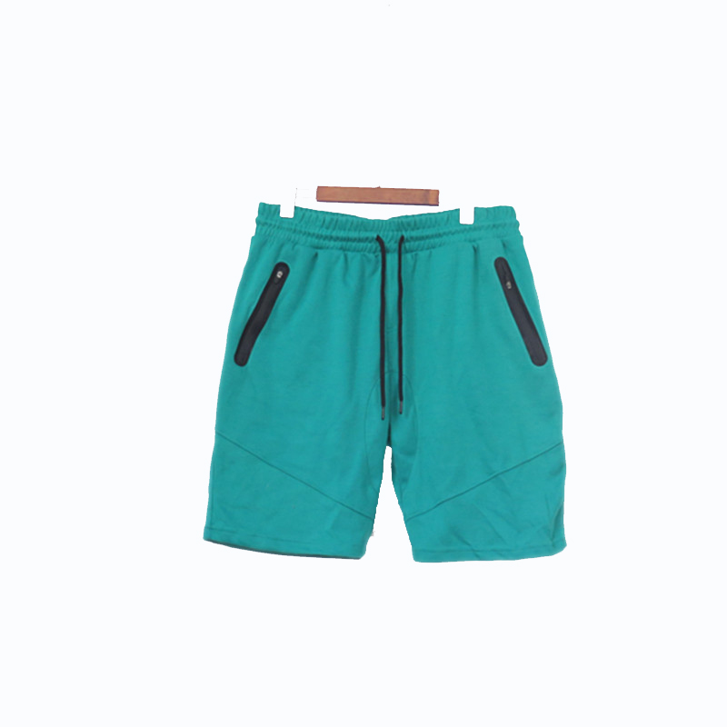 Men's Polyester Cotton Leisure Cycling Shorts with Zipped Pockets