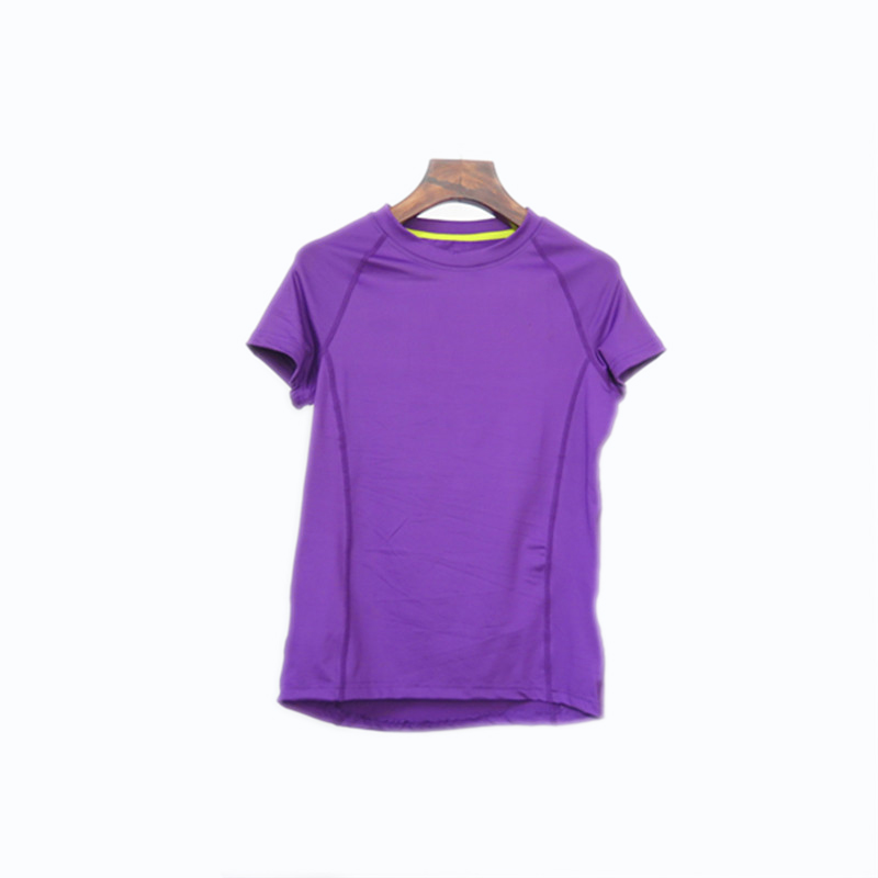 Women's Raglan Short Sleeved Round-neck Seamless Running Jersey
