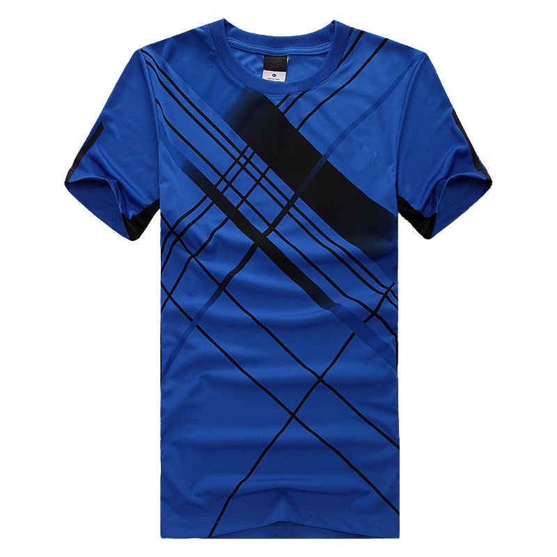 Men's Round-neck Short-sleeved Custom Printed Sports Jersey