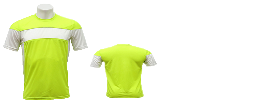 Men's 100% Polyester Short-sleeved Fluorescent Yellow and White Cut and Sewn Soccer Jersey