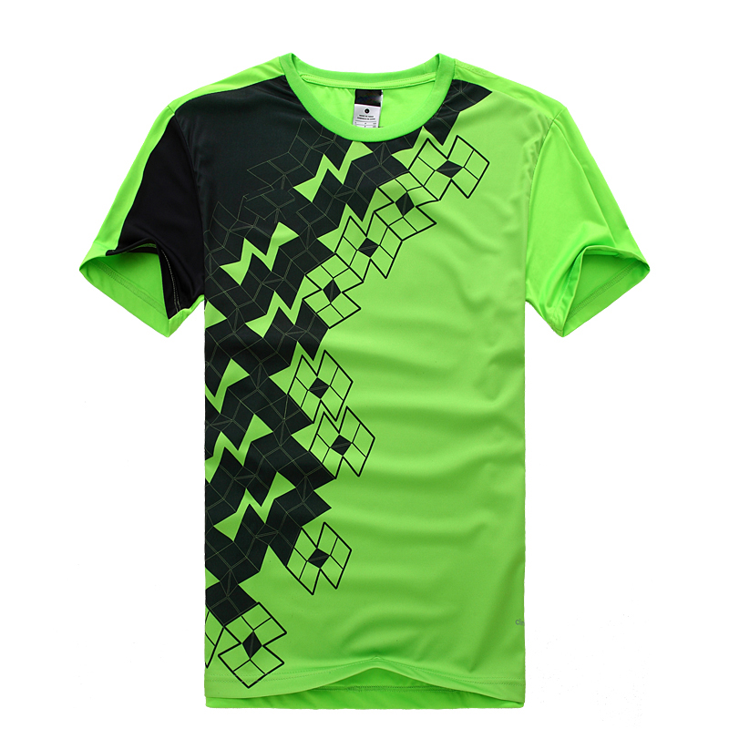 Teenager Round-neck Short-sleeved Fluorescent Soccer Jersey with Print