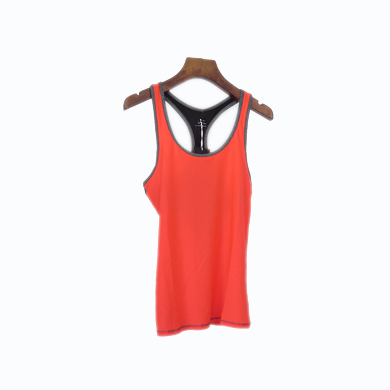 Women's Sleeveless Large Round-neck Tank Top with Mesh Back