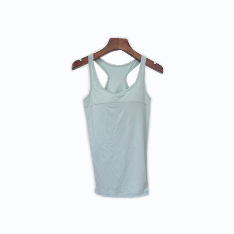 Female Gym Wear Elastic Polyester Tank Top