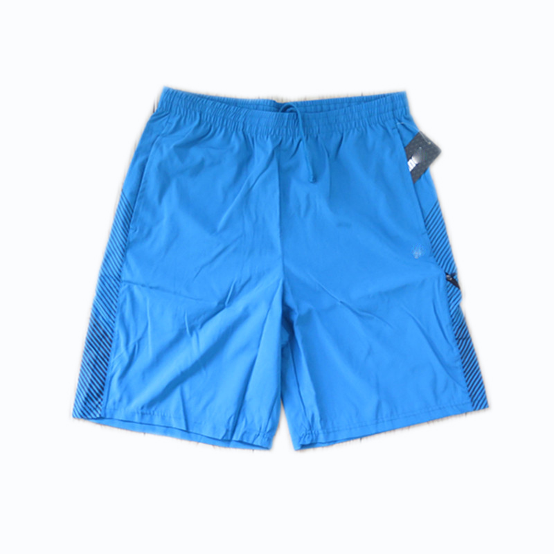 Men's Dry Fast Woven Polyester Shorts with Zip-up Pockets and Drawstring