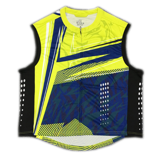 Full-sublimation Printed Cycling Jersey Vest with Reflective Printing