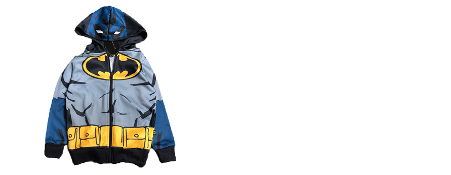 Children's Batman Full Sublimation-printed Zip-up Hoody Jacket