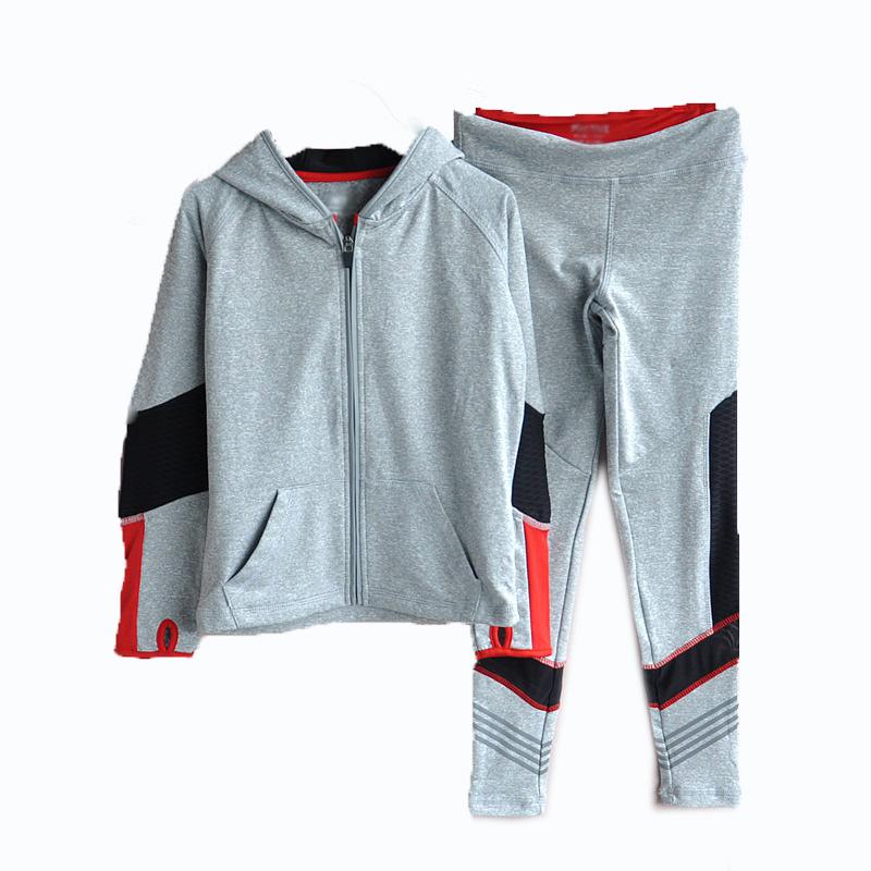 Juniors' Sports Zip-up Jacket and Pants Suit