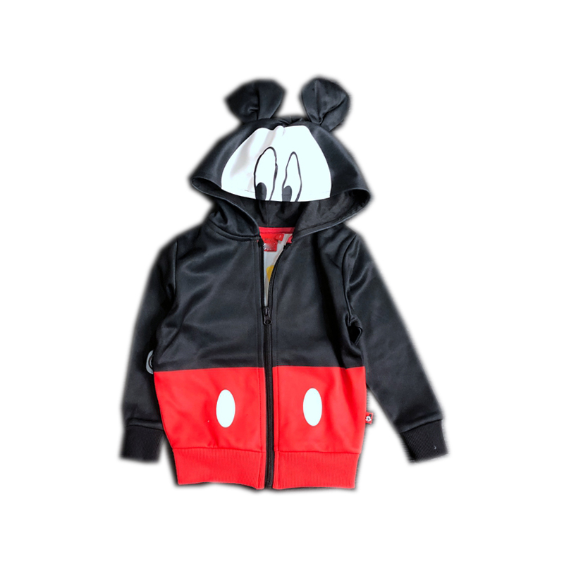 Kids' Full Sublimation-printed Micky Mouse Pattern Zip-up Hoody Sports Jersey