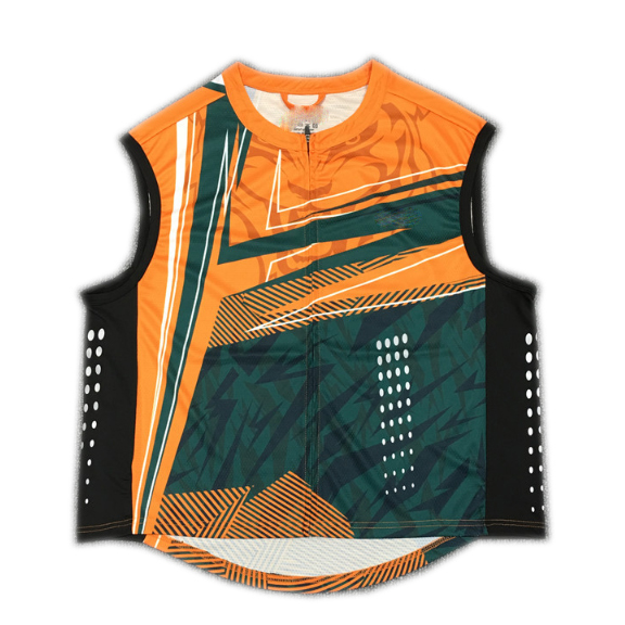 Sleeveless round-neck full zipped sublimation printed cycling vest
