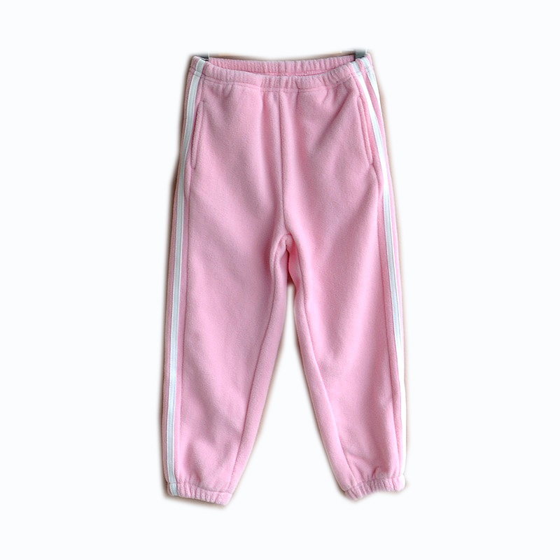 Girls' Outdoor and Indoor Fleece Long Pants with Pockets