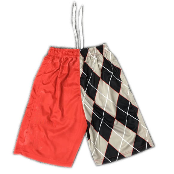 Men's Fast Dry Plaid Sublimation Printed Shorts