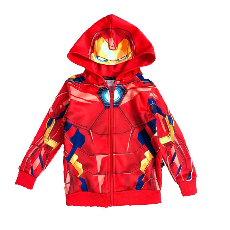 Kids' Full Sublimation-printed Spiderman Zip-up Hoody Jacket