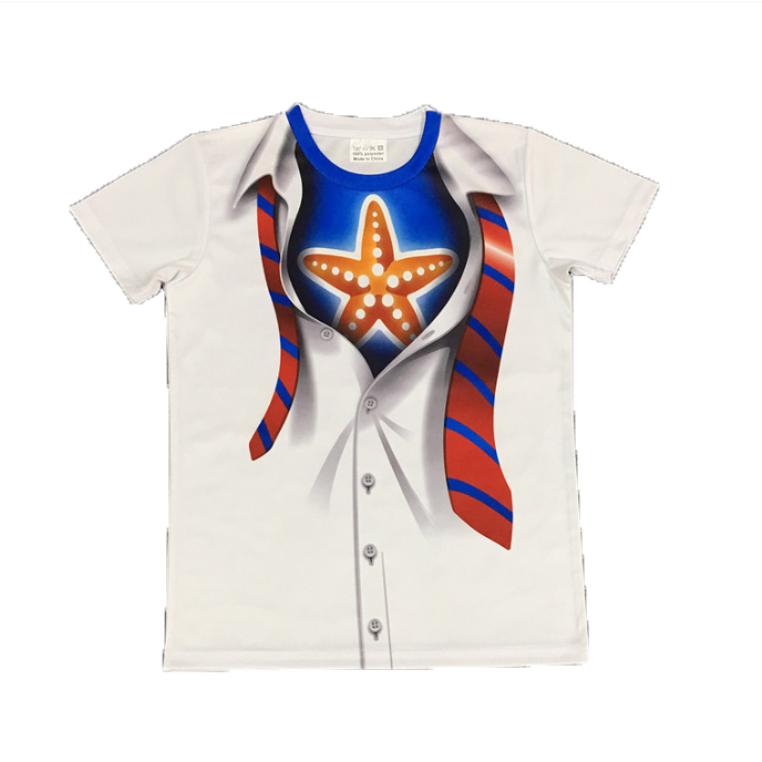 Short-sleeved Starfish Sublimation Printed Round-neck Fast-dry Promotional Jersey